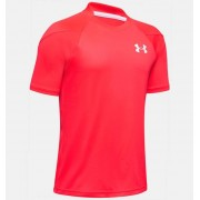 Under Armour Boys' UA Sun Armour Short Sleeve Red YLG