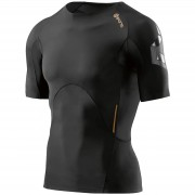 Skins A400 Short Sleeve Top - Oblique - L - Black