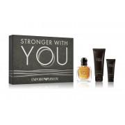Giorgio Armani Stronger With You SET: Toaletná voda 50ml + Sprchový Gél 75ml + Hydratačný balzám na fúzy 20ml