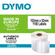 Etichete termice DYMO LabelWriter mare capacitate transport logisitica doar pentru LW 4XL permanente 102mmx59mm hartie alba 2 role cutie 575 etichete rola 947420 S0947420