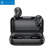Casti Xiaomi TWS Haylou T15 Falcon, Bluetooth 5.0, powerbank-dock 2200mAh, touch control, IPX5, AAC, DSP, Negru