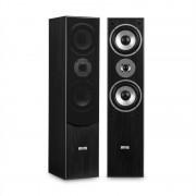 Auna L766 3-посочни басови рефлексни HiFi високоговорители, чифт, черен цвят (JO- L766-BL)