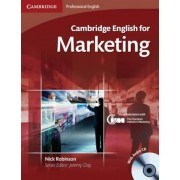 Cambridge English for Marketing Student's Book with Audio CD, Paperback