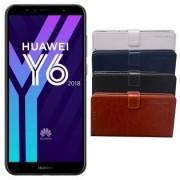 Huawei Y6 2018 flipcover - Svart
