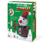 SadoCrafts Sew Your Own Stuffed Toy - DIY Snowman Sock Doll Sewing Craft Kit for Kids