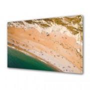 Tablou Canvas Premium Peisaj Multicolor Oameni pe plaja Decoratiuni Moderne pentru Casa 80 x 160 cm