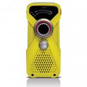 Soulra Lextronix FRX1 - компактно AM/FM радио с фенерче и динамо (жълт)