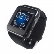 Bluetooth Smart Watch w / camara soporta tarjeta SIM / TF - negro