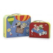 Yottoy Babar Set of Two Suitcases (L) 10.75 and (s) 7.75