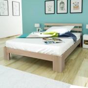 vidaXL Pat din lemn masiv de pin 200 x 140 cm, Culoare naturală
