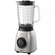 Blender Philips Viva Collection, HR3555/00, 700 W, tehnologie ProBlend 6, vas sticla 2l, Otel Inoxidabil, gri