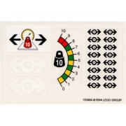 """Lego Original Sticker Sheet For 9v Train Set #4565 """"Freight And Crane Railway"""""""