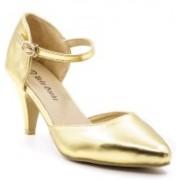 Belle Gambe Women Gold Heels
