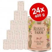 Rosie's Farm Ekonomipack: Rosie's Farm Adult 24 x 400 g - Venison & Pheasant with Salmon