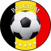 Belgie voetbal onderzetters/bierviltjes - 100 stuks - Belgie voetbal feestartikelen