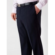 Huntley Wash & Wear Flat Front Trousers - Black 82R