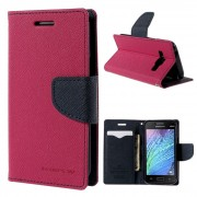 Korean Mercury Fancy Diary Wallet Case Cover for Samsung Galaxy J1 Hot Pink
