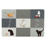Trixie Patchwork Cat podložka pod misku - d 44 × š 28 cm