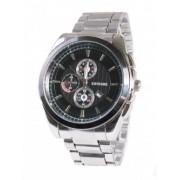 Елегантен мъжки часовник с черен циферблат