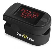 Zacurate Pro Series 500DL Fingertip Pulse Oximeter Blood Oxygen Saturation Monitor with silicon cover, batteries and lanyard (Mystic Black)