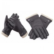 Men's Gallery Seven Fashion Winter Gloves Mens - Lined - Touchscreen XX-Large Brown-Style 1 Brown Fur