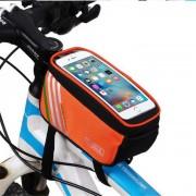 """b-alma YA0207 bolsa de tubo superior de la bicicleta de 4?8"""" telefono - naranja (1?4 L)"""
