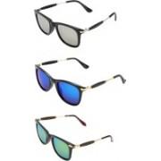 TFASH Aviator, Wayfarer, Round Sunglasses(Grey, Blue, Orange)