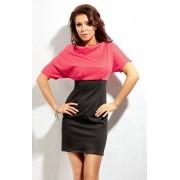 Sukienka 141 (czarno-malinowy)