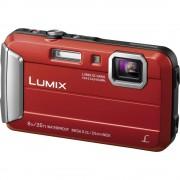 Digitalna kamera Panasonic DMC-FT30EG-R 16.1 mil. piksela optički zum: 4 x crvene boje, podvodna kamera, otporna na smrzavanje,