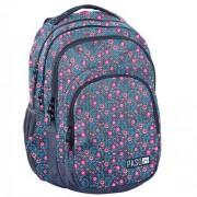 Paso Plecak młodzieżowy szkolny dla dziewczyny Paso - kwiatki - kolorowy