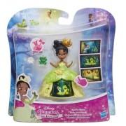 Disney Princess - Mini papusa Tiana, cu rochie magica