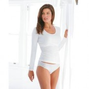 Shelf-Bra-Wäsche, 40 - Weiss - Langarm-Shirt