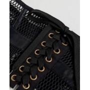 ASOS Mesh Caged Corset Waist Belt - Black