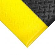 Černo-žlutá gumová protiskluzová protiúnavová průmyslová rohož - 1830 x 90 x 0,9 cm (80000608) FLOMAT
