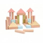 Plan Toys Pastelowe klocki drewniane 40 szt.
