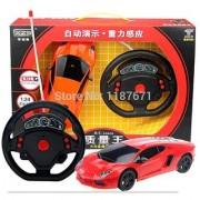Remote Control 1/24 Drift Speed Gravity Radio Steering Wheel RC Car + LED Light