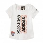 adidas T-Shirt Femme Junior Blanc Graphique - 5-6A OL - Foot Lyon
