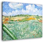Vincent Van Gogh: Alföld Auvers közelében (30x25 cm, Vászonkép )