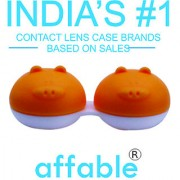 Affable Plastic Travel Case Holder Storage Box for Contact Lens A186-Orange