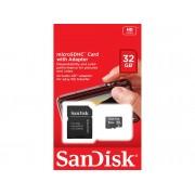 SanDisk Tarjeta de memoria Micro SD SANDISK 32GB + Adaptador SD