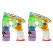 Merkloos 2x Bellenblaas pistool met LED licht - Action products