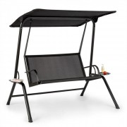 Blumfeldt Bel Air Mono Swing, hollywoodi hintaszék, acélkeret, Mono Relax, fekete (GDMC2-Bel Air Mono)