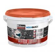 RUBSON Silicone Liquido Aquablock 5 Kg Terracotta Rivestimento Impermeabile Universale