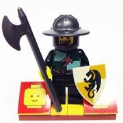 "Minifigure Packs: Lego Castle Kingdoms Bundle ""(1) Dragon Knight Quartermaster"" ""(1) Figure Display Base"" ""(2) Figure Accessories"""