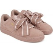 Puma Suede Heart Satin II Wn s Sneakers For Women(Pink)