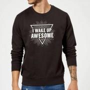 T-Junkie Sudadera I Wake Up Awesome - Negro - L - Negro