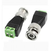5X CCTV Video Camera BNC Plug Connector Adapter Black Green
