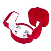 Piros színű, dupla szíves ékszertartó doboz