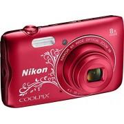 Nikon Coolpix A300 Camera, rood met versiering