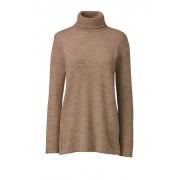 ランズエンド LANDS' END レディース・エクストラファインメリノ・タートルネック・セーター/無地/長袖(フレンチペカンヘザー)
